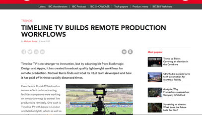 IBC365: How Timeline TV makes light of work in Remote Production